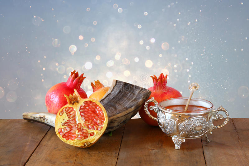 Концепция hashanah Rosh (праздника Нового Года jewesh) Традиционное sym стоковая фотография