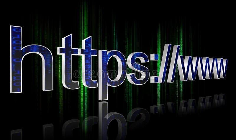 Концепция HTTPS бесплатная иллюстрация
