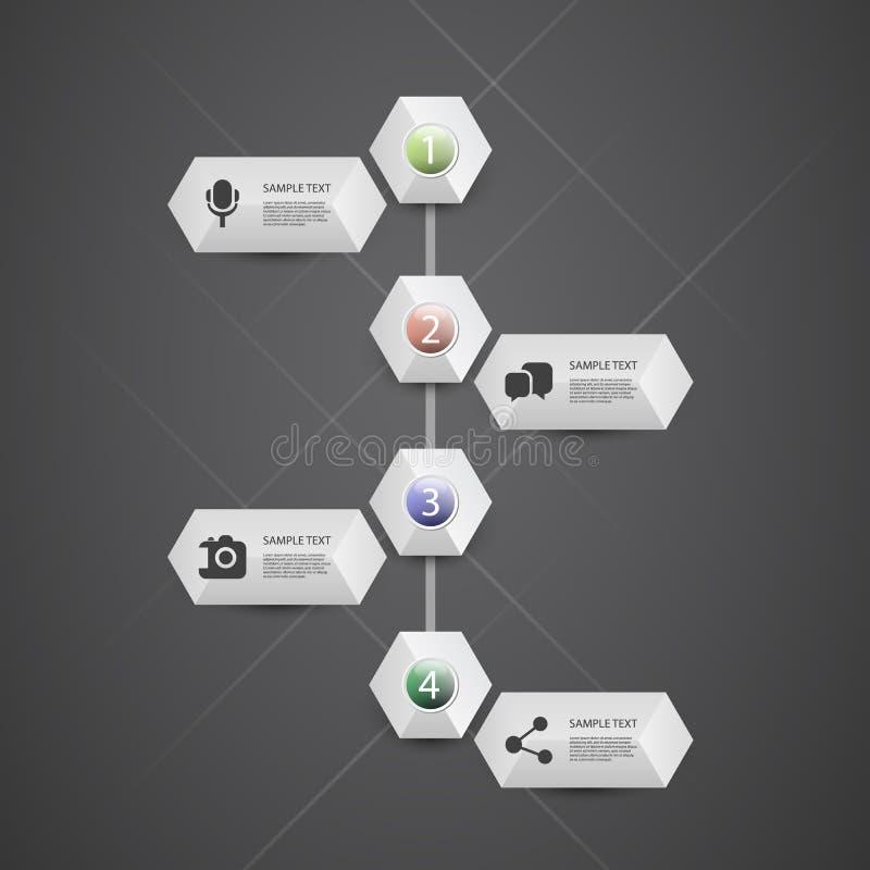 Концепция Infographic - дизайн графика течения - срок иллюстрация вектора