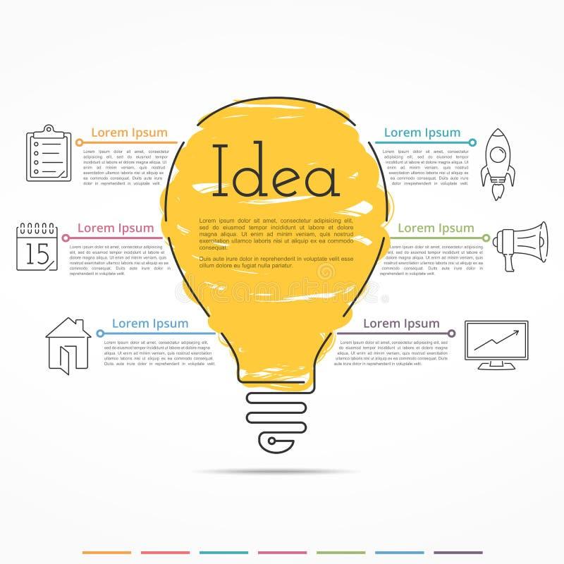Концепция Infographics идеи иллюстрация вектора
