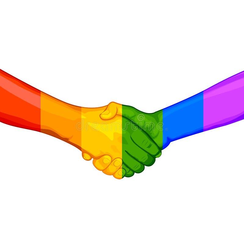 Концепция LGBT Awarness иллюстрация штока