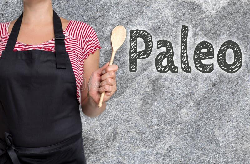 Концепция Paleo показана кашеваром стоковые изображения rf