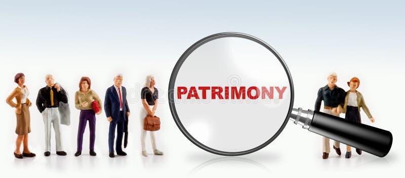 Концепция Patrimony стоковые изображения