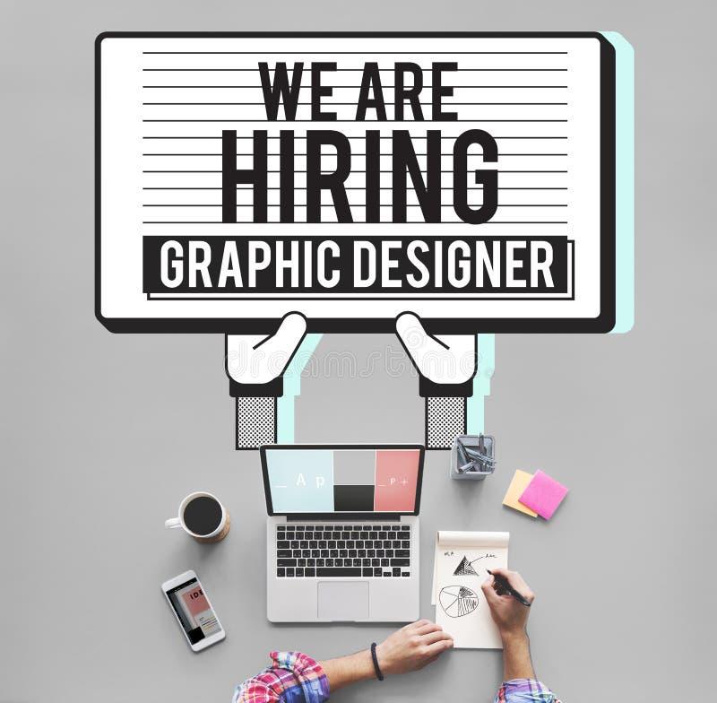 Концепция Visual эскиза график-дизайнера рабочего места творческая бесплатная иллюстрация