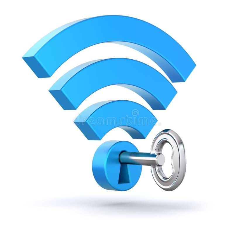 Концепция WiFi иллюстрация штока