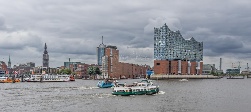 Концертный зал Elbphilharmonie, Гамбург стоковая фотография
