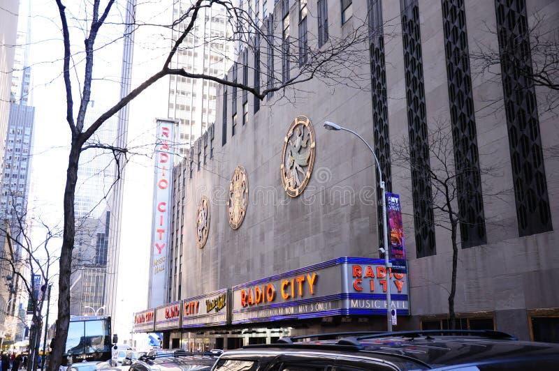 Концертный зал города радио Нью-Йорка NYC стоковая фотография