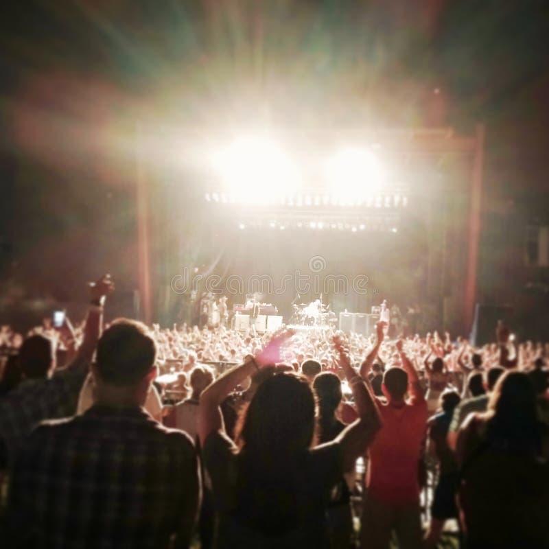 Концерт в лете стоковое изображение rf