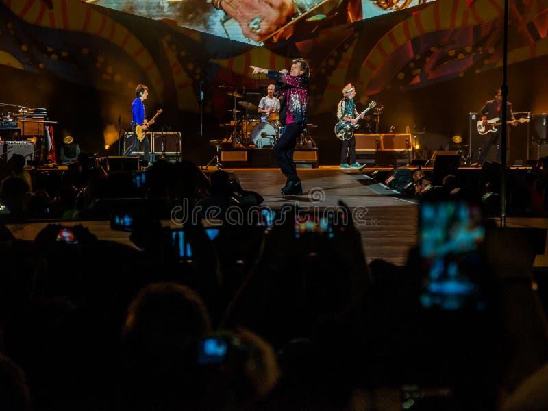 Концерт луны Rolling Stones Гаваны стоковое фото
