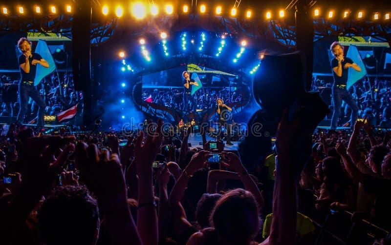 Концерт луны Rolling Stones Гаваны стоковое фото rf