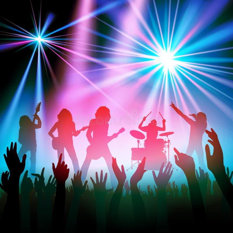 Концерт рок-группы бесплатная иллюстрация