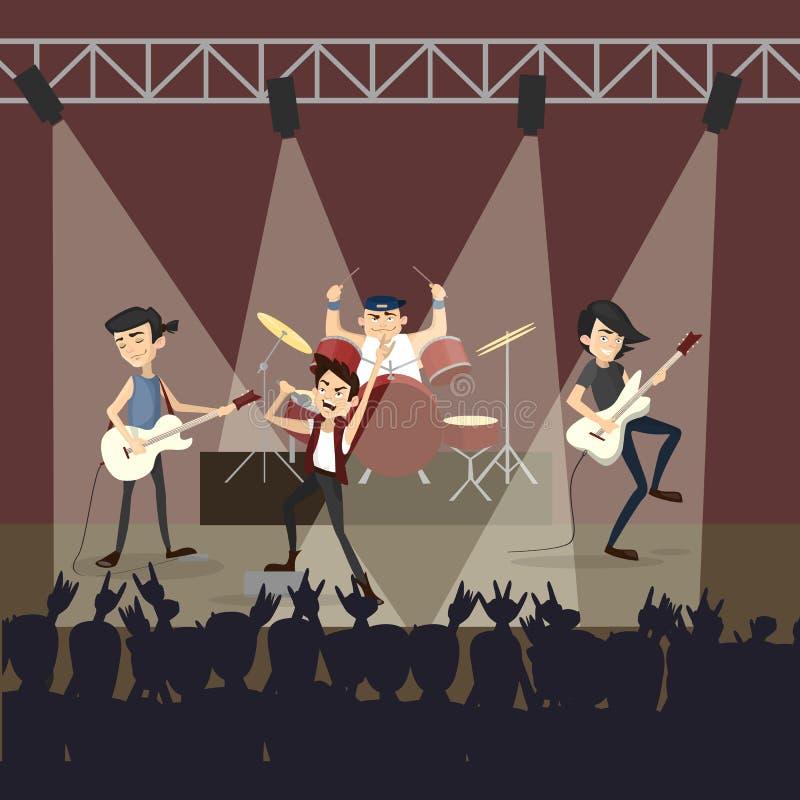 Концерт рок-группы иллюстрация штока