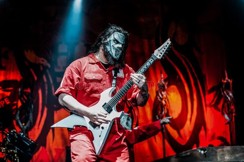 Концерт Slipknot стоковые изображения
