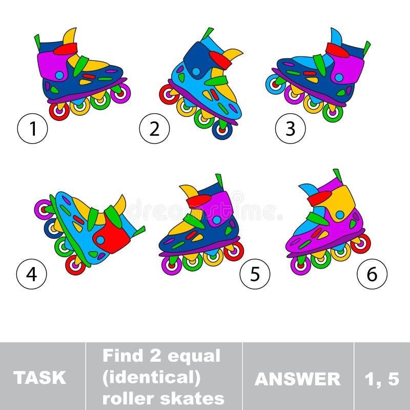 Коньки ролика находки 2 равные идентичные иллюстрация штока