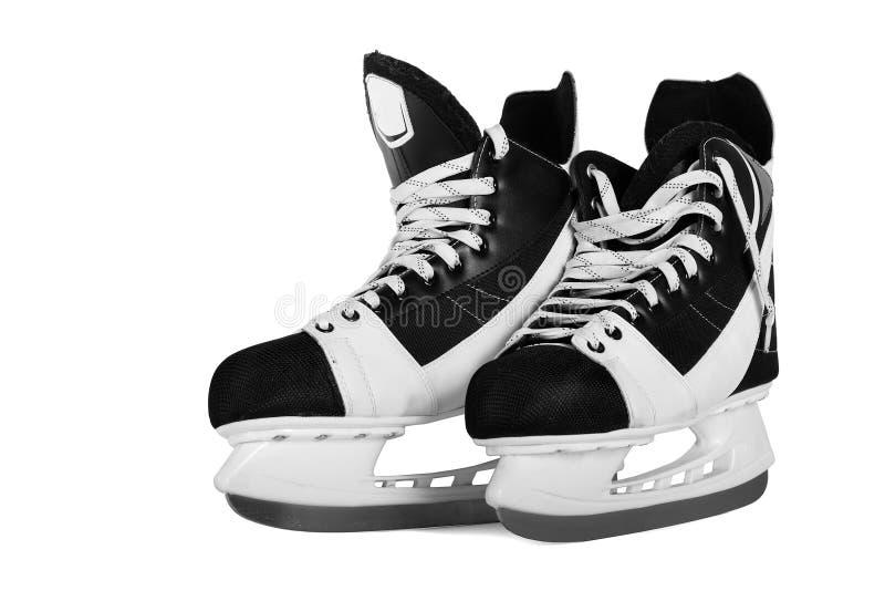 коньки человека s хоккея стоковые фото