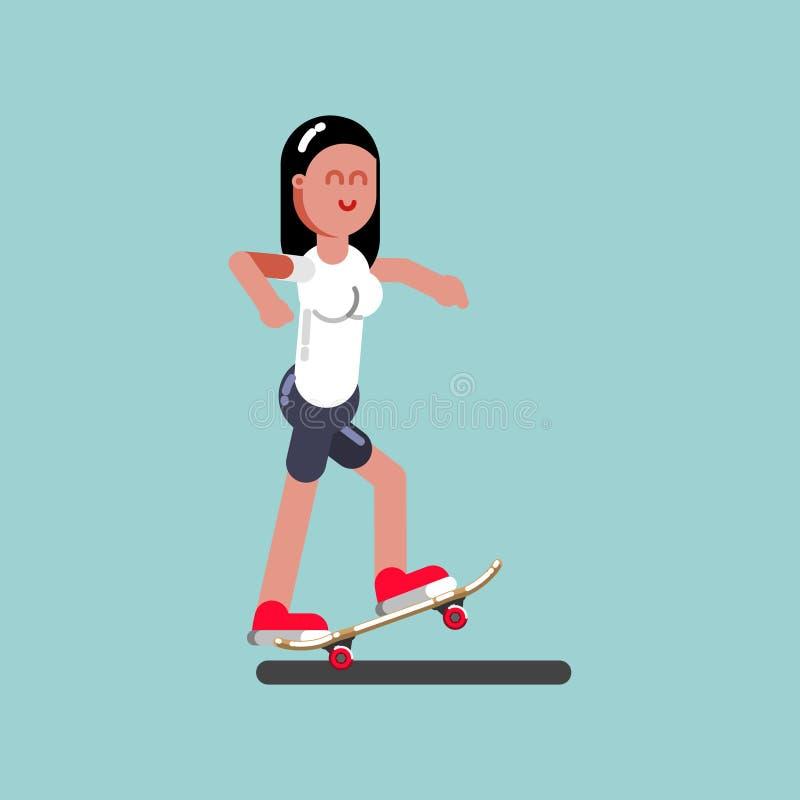 Конькобежец девушки делая руководство бесплатная иллюстрация