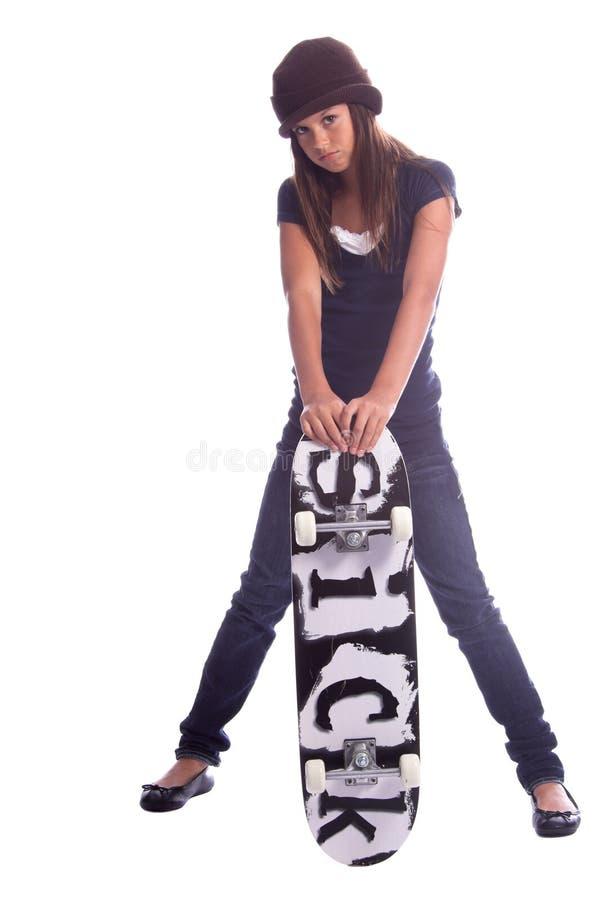 конькобежец девушки стоковое изображение rf