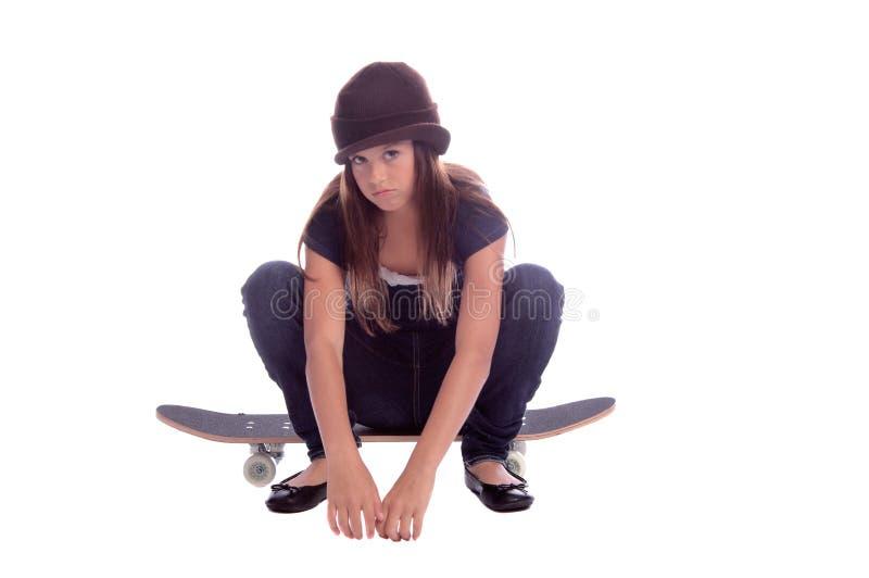 конькобежец девушки стоковые фото