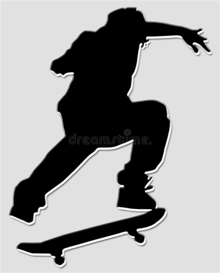конькобежец мальчика иллюстрация штока