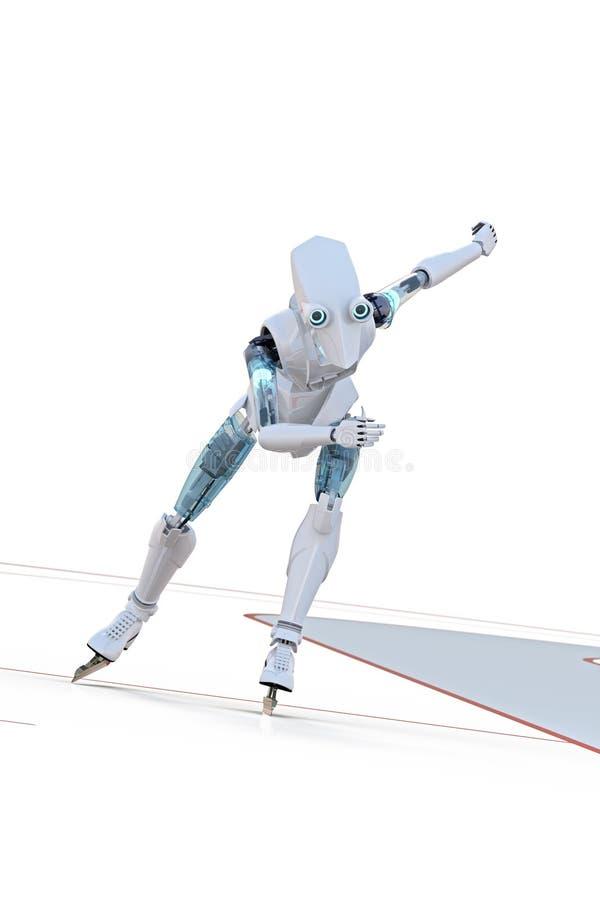 Конькобежец скорости робота бесплатная иллюстрация