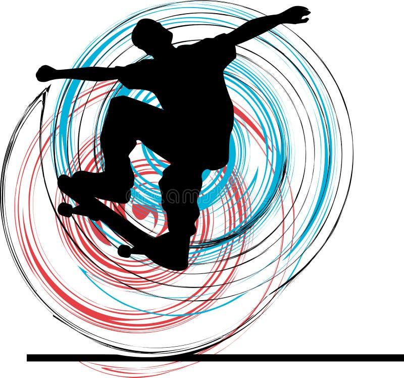 конькобежец иллюстрация вектора
