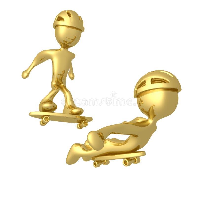 конькобежцы иллюстрация штока