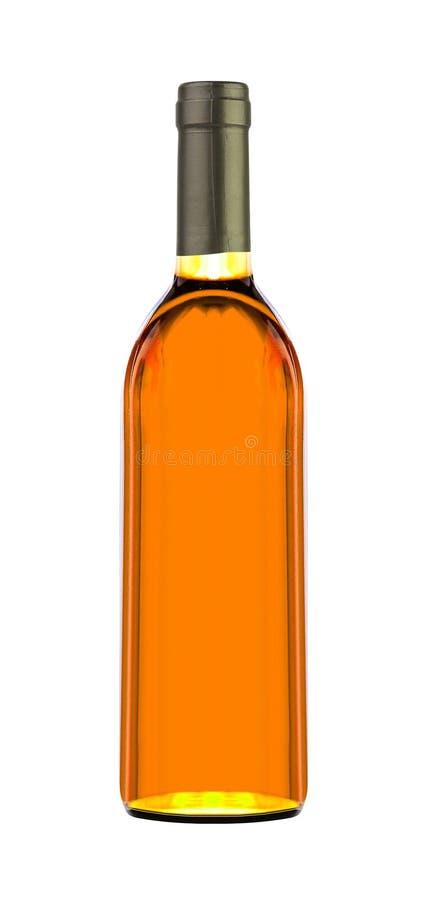 Коньяк в изолированной бутылке стоковые изображения