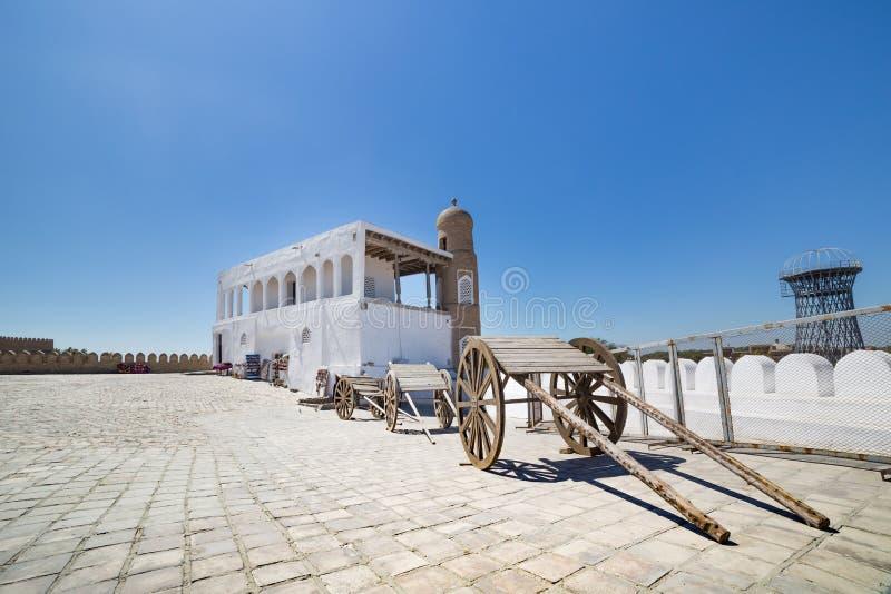 Конюшня крепости ковчега Бухары, Узбекистана стоковая фотография