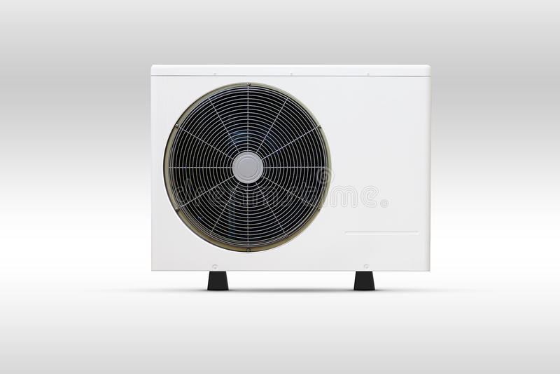 Кондиционера вентилятора катушки блок двери вне стоковое фото rf
