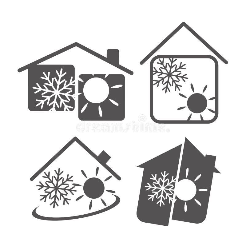 Кондиционер воздуха в доме бесплатная иллюстрация