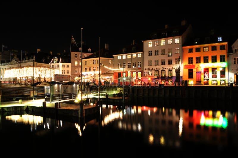 Копенгаген к ноча стоковые фотографии rf