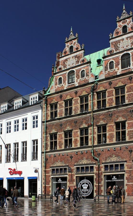 Копенгаген, улица Stroget стоковые фотографии rf
