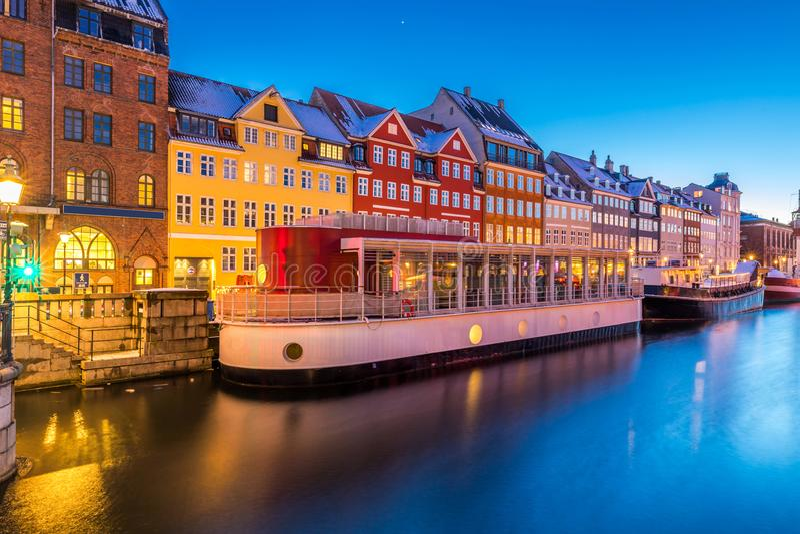 Копенгаген Nyhavn Дания стоковое фото rf