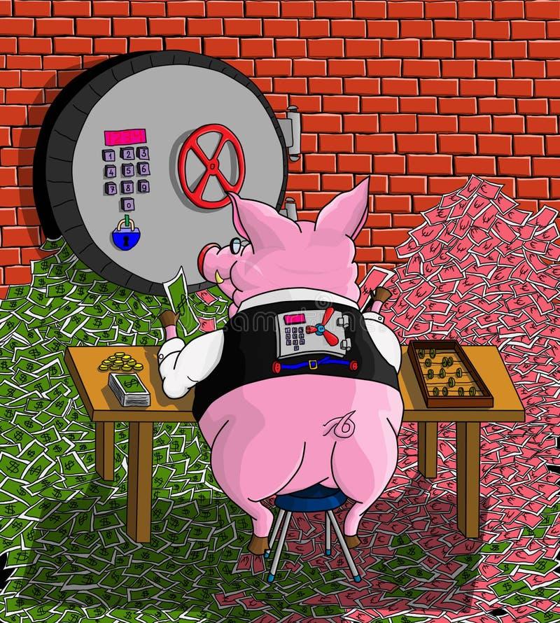 Копилка свиньи иллюстрация вектора