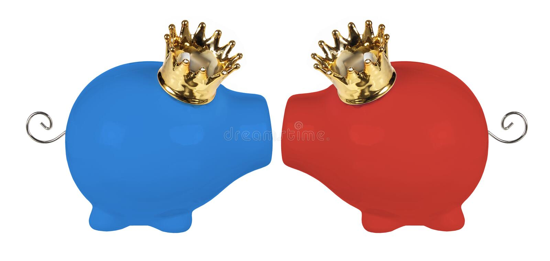 Download Копилки с кронами стоковое фото. изображение насчитывающей важно - 33726300