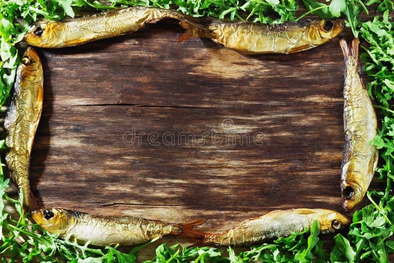 Копченые прибалтийские сельди стоковое фото rf