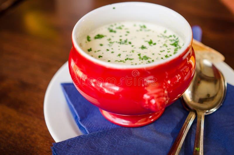 Копченый суп пива и чеснока стоковое изображение rf