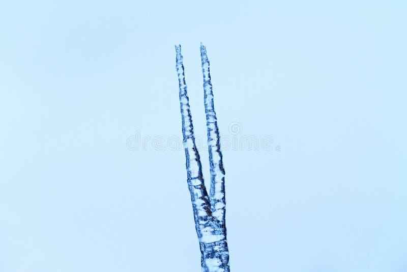 Копье от льда на предпосылке неба стоковое фото rf