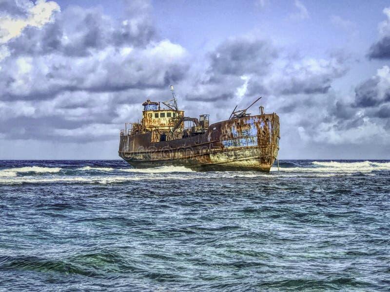 Кораблекрушение в San Andres, Колумбии стоковая фотография