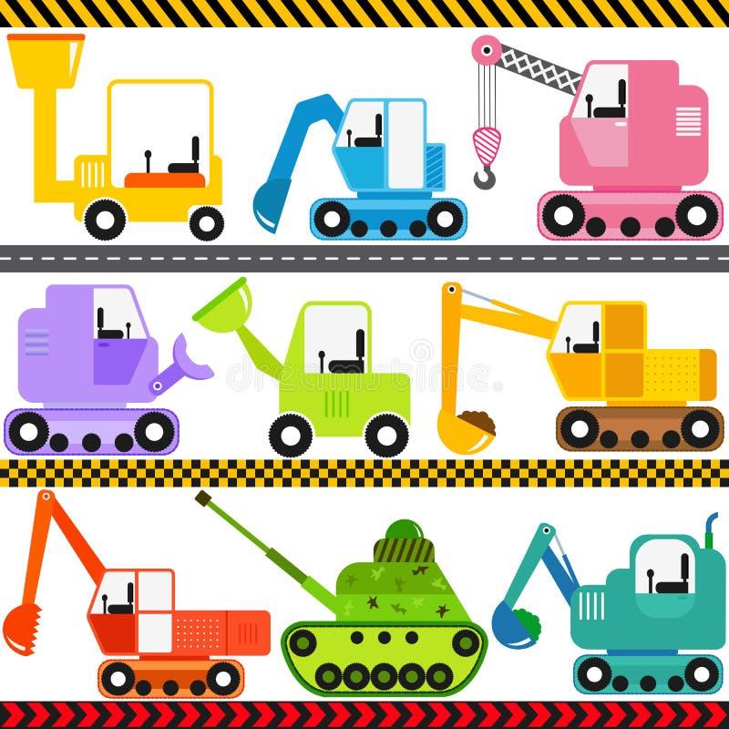 Корабли трактора/инженерства/перевозка иллюстрация штока