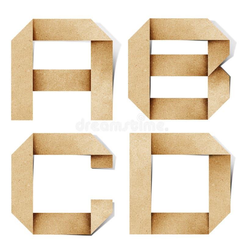 корабль алфавита помечает буквами рециркулированную бумагу origami стоковые изображения rf