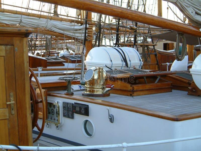 корабль дома палубы старый иллюстрация штока