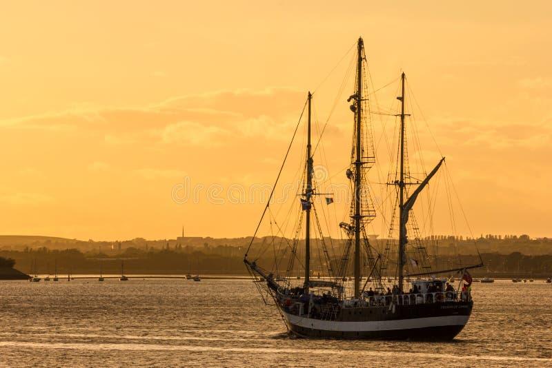 Корабль Дублин высокорослый участвует в гонке 2012 стоковое фото