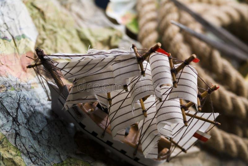 корабль карты старый стоковые изображения
