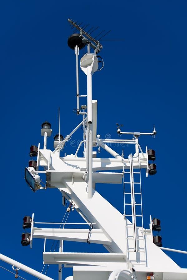 корабль навигации оборудования стоковая фотография rf