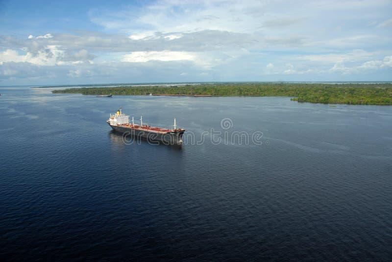 Корабль нефтяного танкера стоковое изображение rf