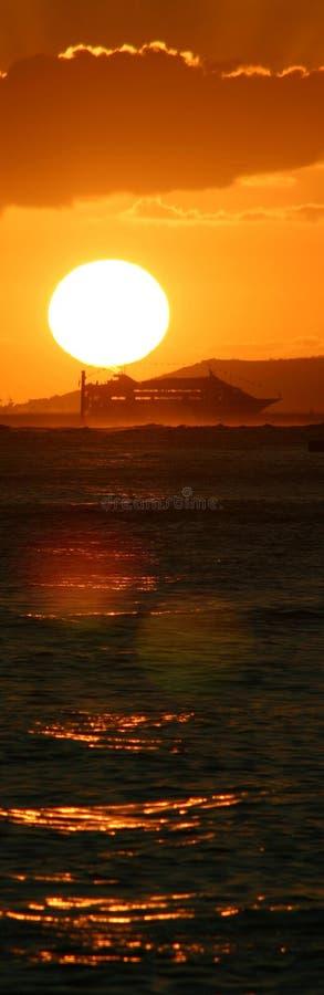 корабль панорамы круиза стоковая фотография rf