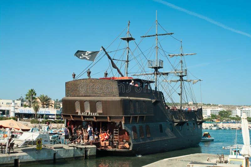 корабль перлы napa Кипра agia черный стоковые фотографии rf