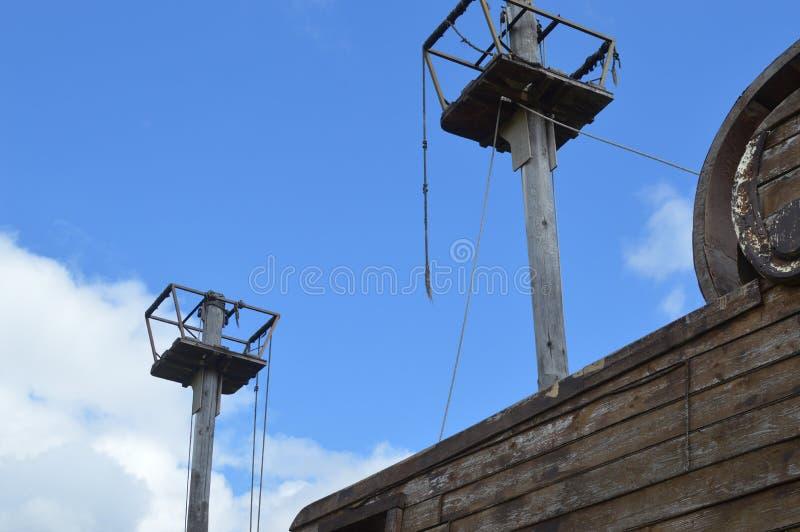 Корабль пиратства деревянный losted стоковая фотография
