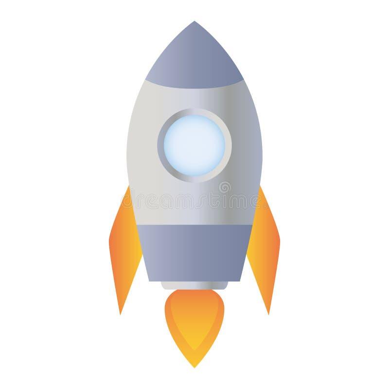 Корабль Ракеты изолированный на белой предпосылке иллюстрация штока